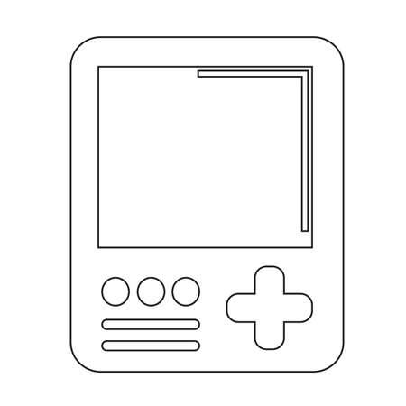 handheld device: Handheld game console icon Illustration