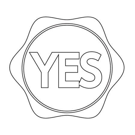 affirmative: Yes button icon