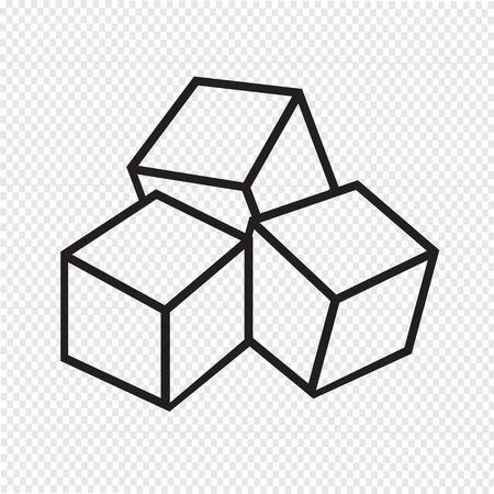cubo: Cubos del azúcar icono