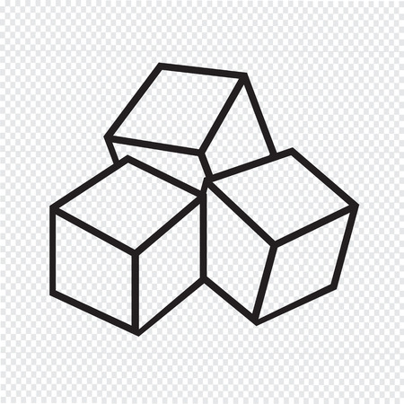 sugar cube: Sugar cubes icon