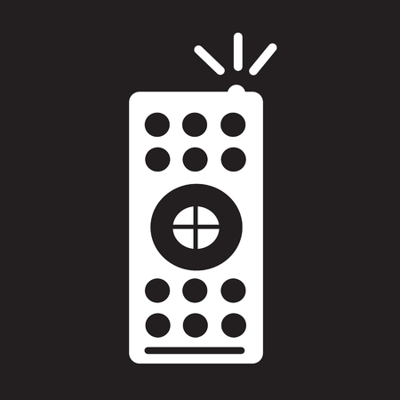 tv remote: tv remote control icon Illustration