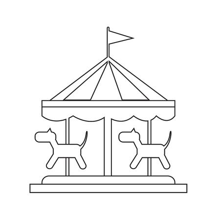 merry go round: merry go round icon Illustration