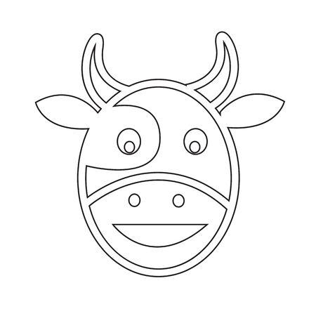 cow head: Cow head icon