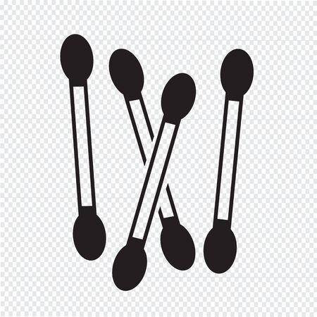 swab: Cotton swab icon Illustration