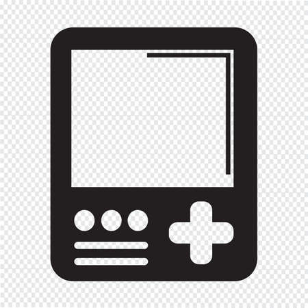 console: Handheld game console icon Illustration
