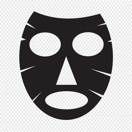 face mask: Facial mask icon Illustration