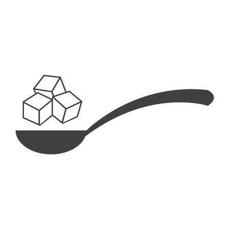 spoon: sugar icon Illustration