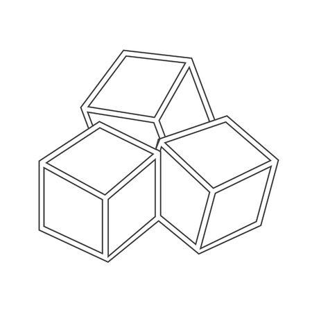 sweetener: Sugar cubes icon