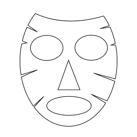 cosmetic product: Facial mask icon Illustration