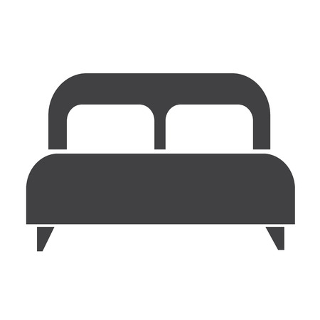 twin house: double bed icon Illustration