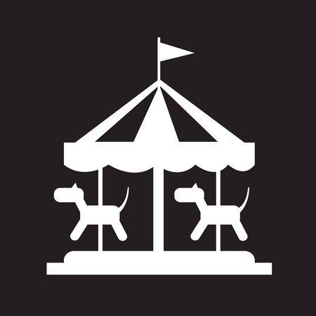 to go: merry go round icon Illustration