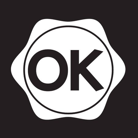 affirmative: OK button Illustration