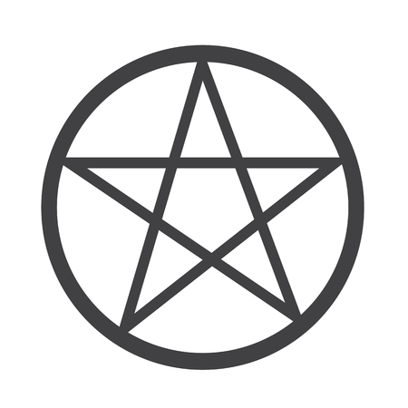 satanic: Pentagram icon Illustration