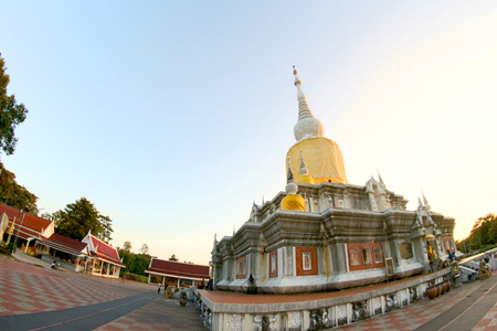 mahasarakham: Phra that Nadoon Stupa at Mahasarakham Thailand Editorial