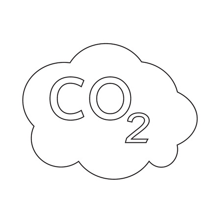 caution chemistry: CO2 icon