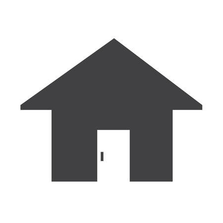 real estate house: Real estate house icon Illustration