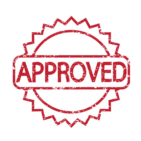 approved: stamp approved with red text
