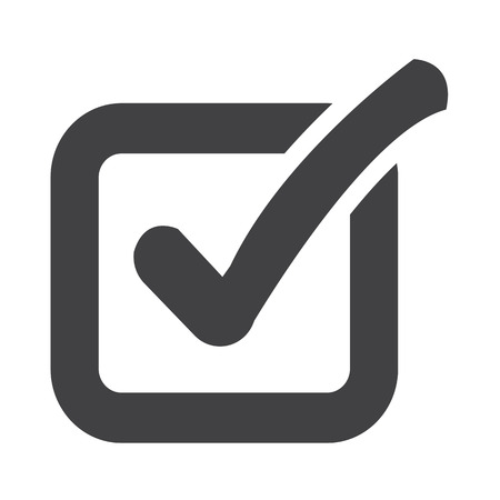 right choice: Check list button icon