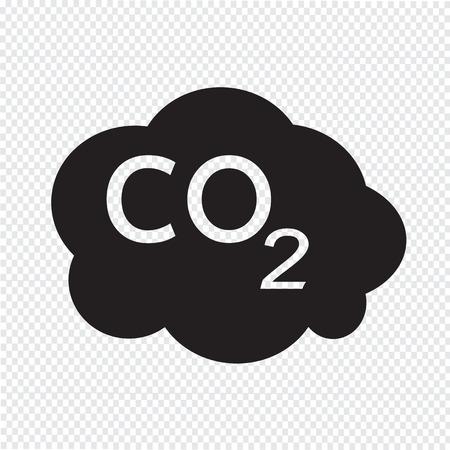 caution chemistry: CO2 icon