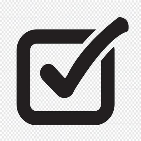 check icon: Check list button icon