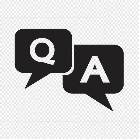 Vraag antwoord icoon Stock Illustratie