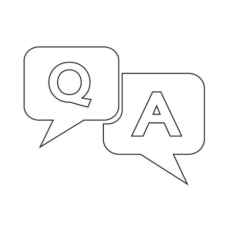 qa: Question answer icon