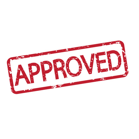 rubberstamp: stamp approved with red text