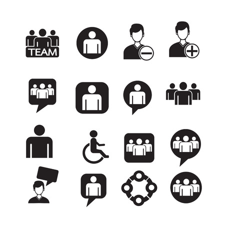discussion group: people icon set Illustration Illustration