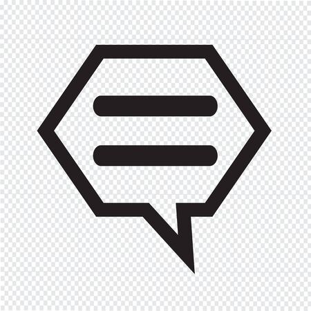 chat icon: talking bubble chat icon Illustration