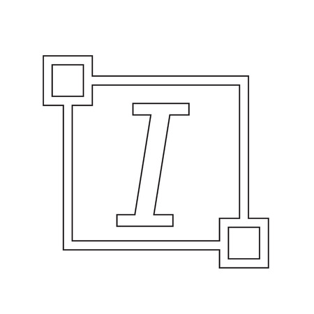 edit: Italic Text font edit letter icon