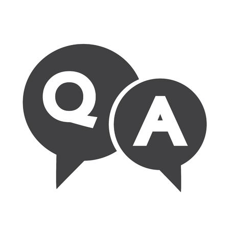 answers: Question and Answer Speech Bubble icon