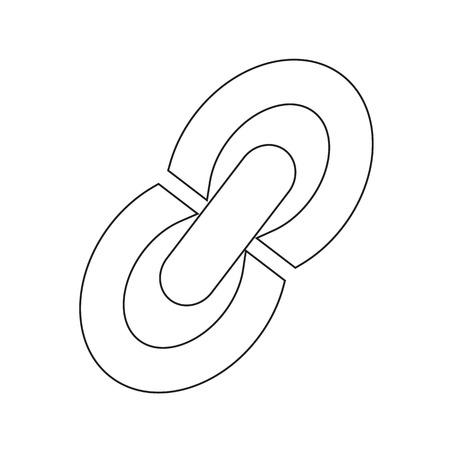 in insert: Insert Edit Link icon sign Illustration