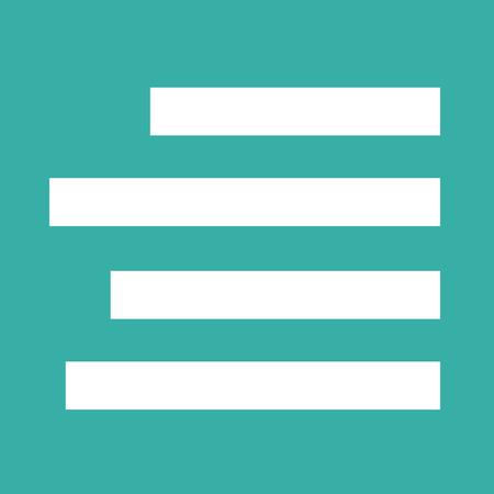 align: Align Text Right icon sign Illustration