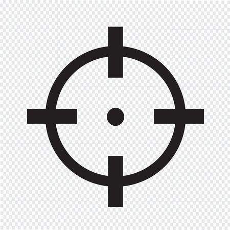 ターゲット アイコンの記号の図