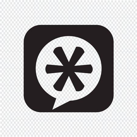 asterisk: Asterisk Footnote sign icon Illustration