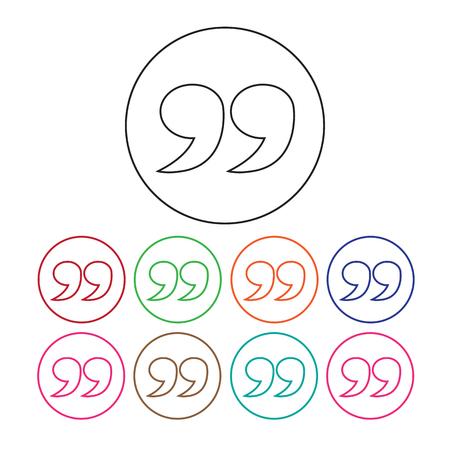 feedback sticker: Blockquote sign icon Illustration Illustration