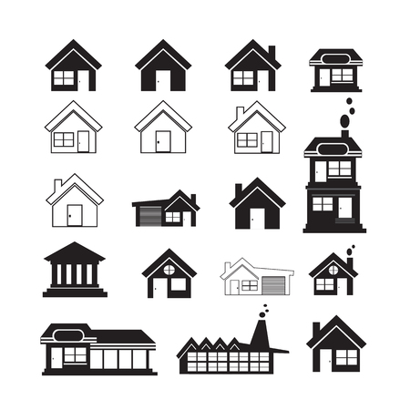 valuation: Real Estate Icons set