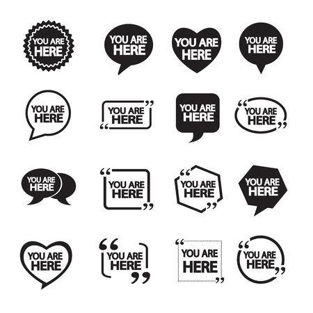 abstract  designs: You are here icon