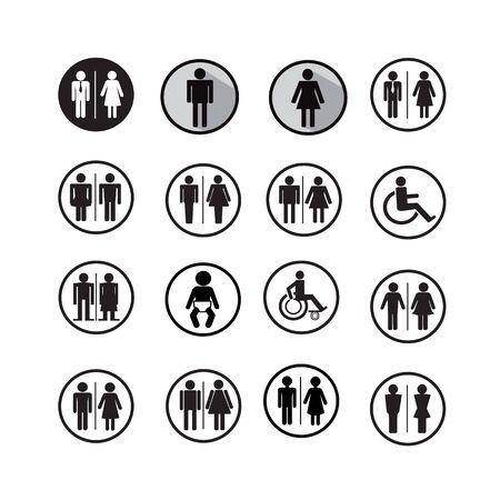 teamwork cartoon: Silhouette people icons illustration