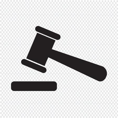 auction gavel: auction icon sign illustration Illustration