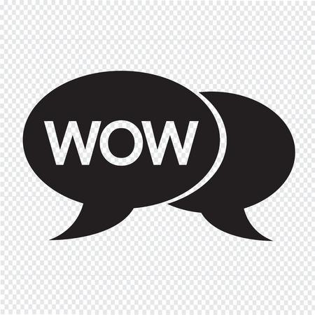 acronym: WOW internet acronym chat bubble illustration