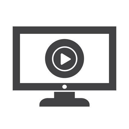 tele: play button tv icon design Illustration