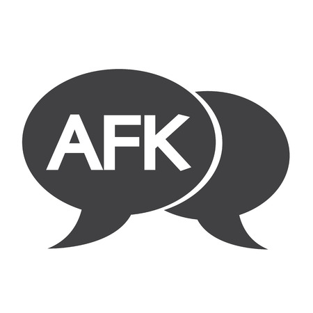acronym: AFK internet acronym chat bubble illustration