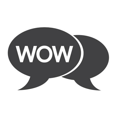 wow: WOW internet acronym chat bubble illustration