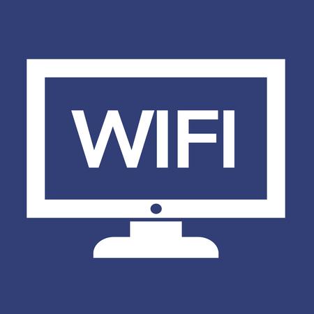 tele: wifi tv icon design Illustration