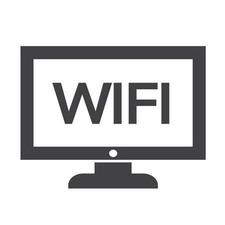 Wifi tv icône conception Illustration Banque d'images - 48328632
