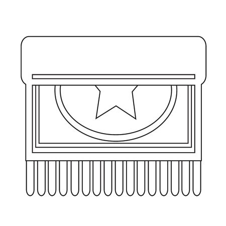 carpet clean: Carpet icon design Illustration