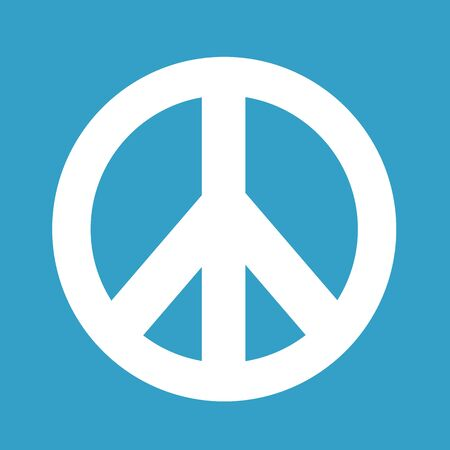 pacifist: Hippie Peace Symbol icon illustration Illustration