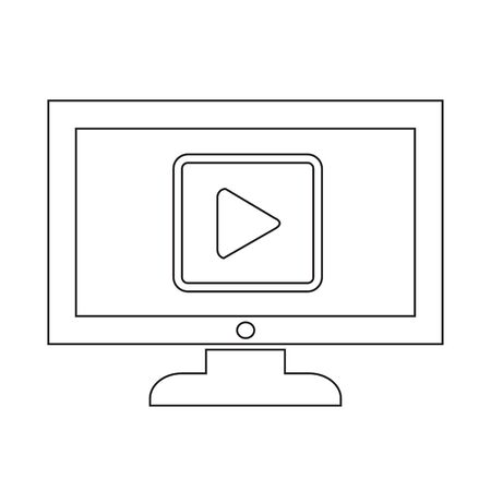 Play button tv icône conception Illustration Banque d'images - 48328684