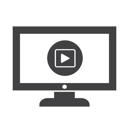 Play button tv icône conception Illustration Banque d'images - 48328702